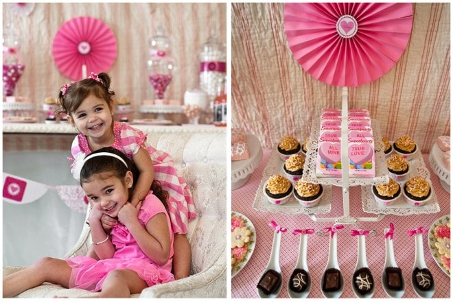 Valentine's Pink Party Tablescape