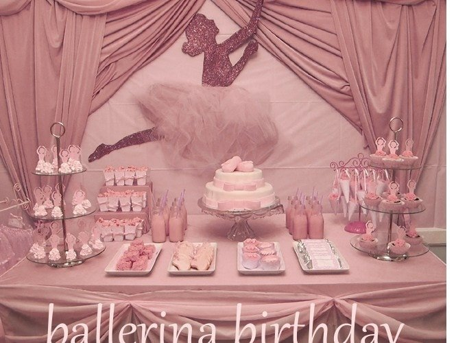 Glittery Ballerina Birthday Party