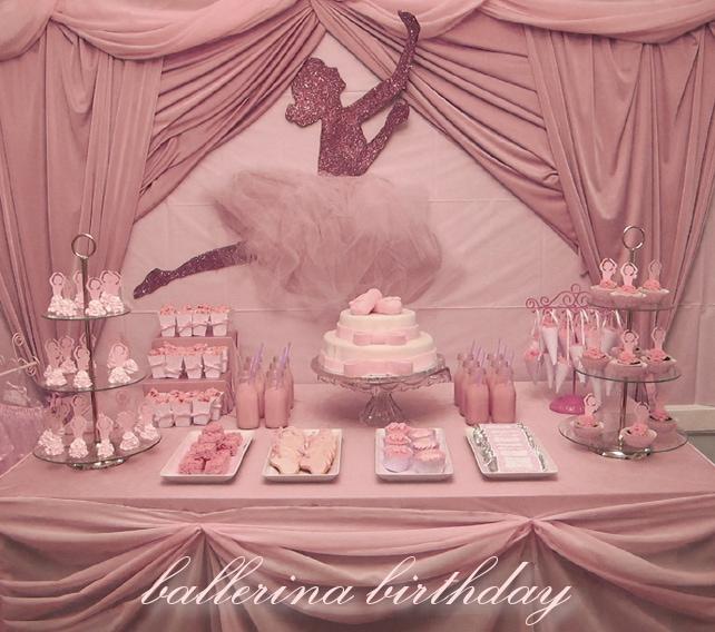 ballerina birthday party table