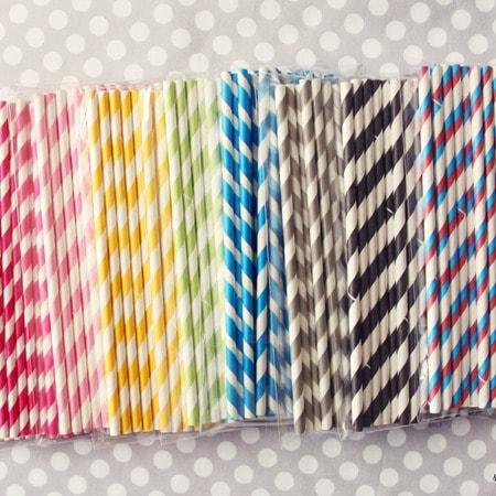 striped paper straws
