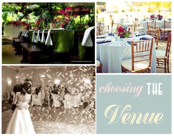 wedding choosing the venue