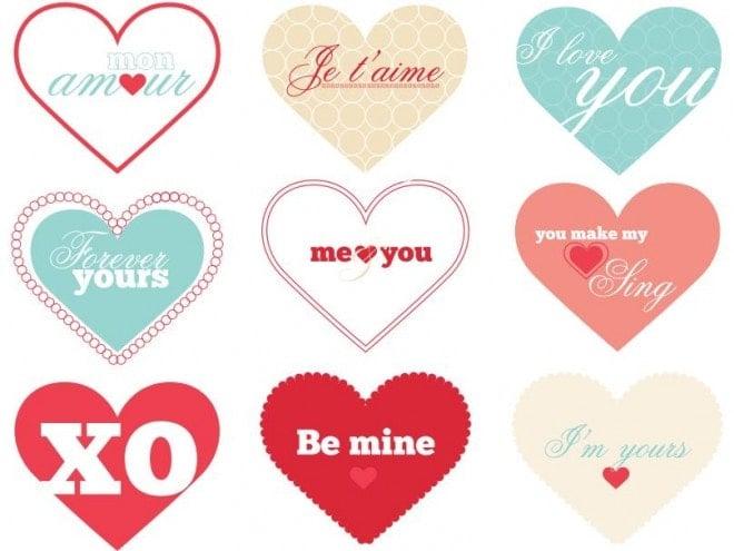 free valentine's heart printable