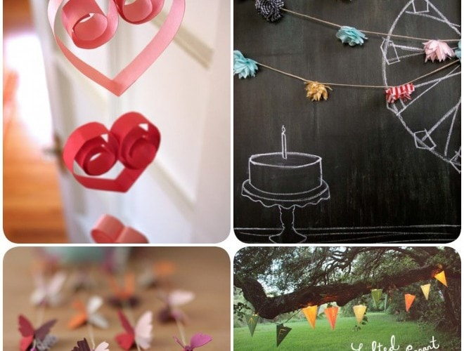 Pretty Party Decoration: Garlands