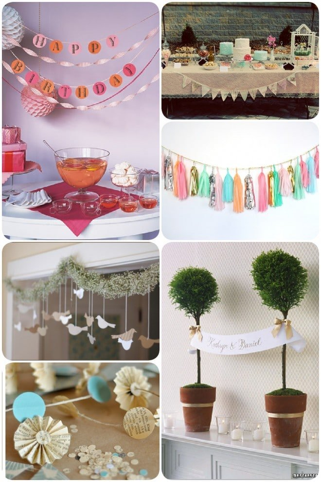 pretty garlands for parties and weddings