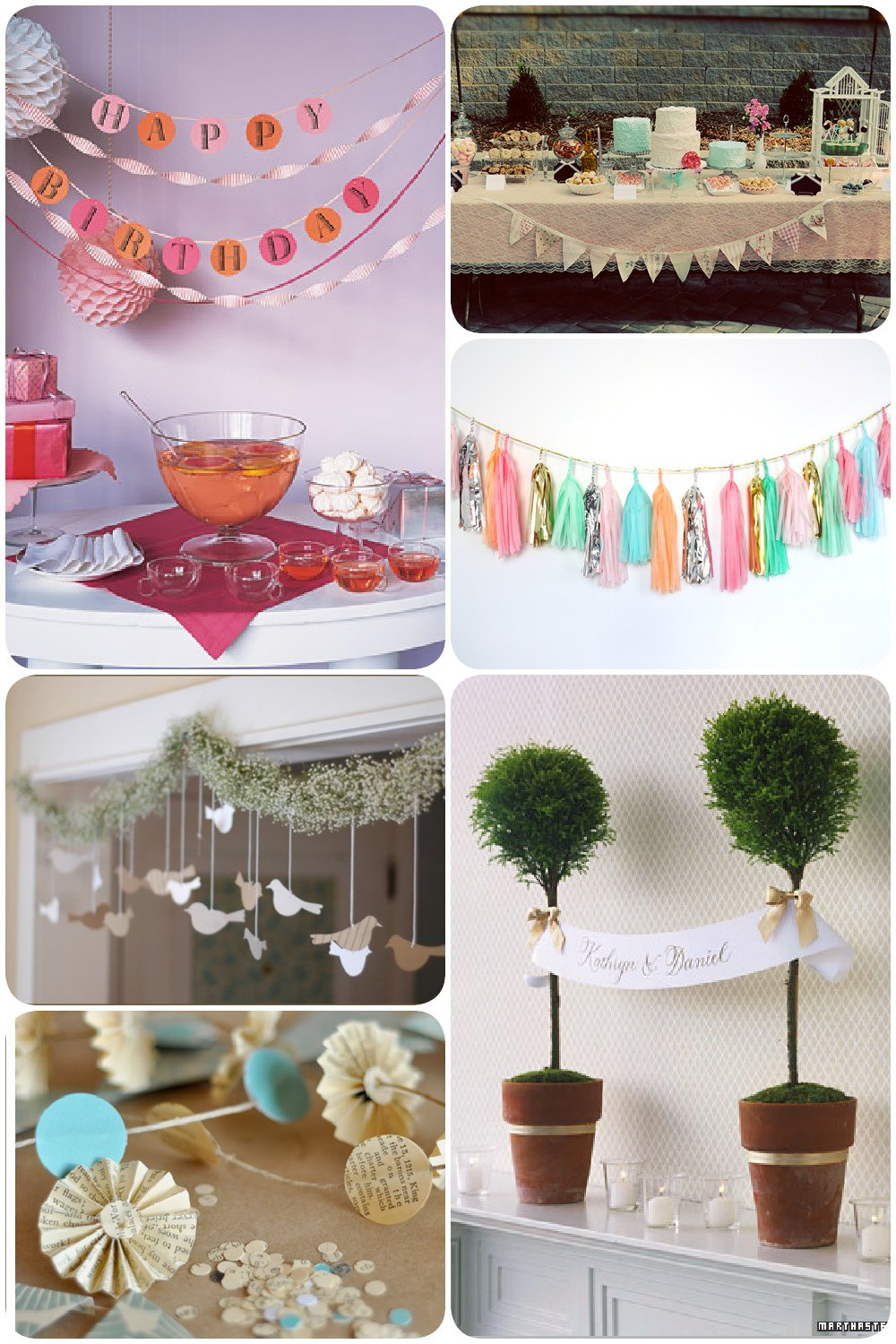 Pretty Party Decoration: Garlands | Pizzazzerie
