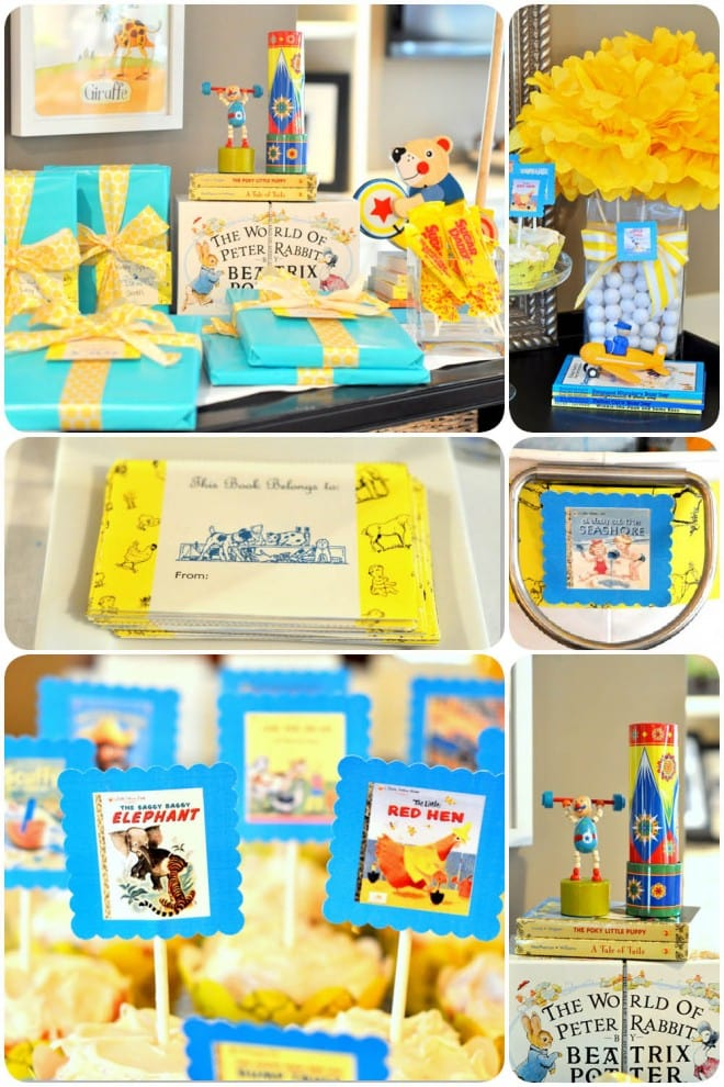 golden books baby shower free printables pizzazzerie