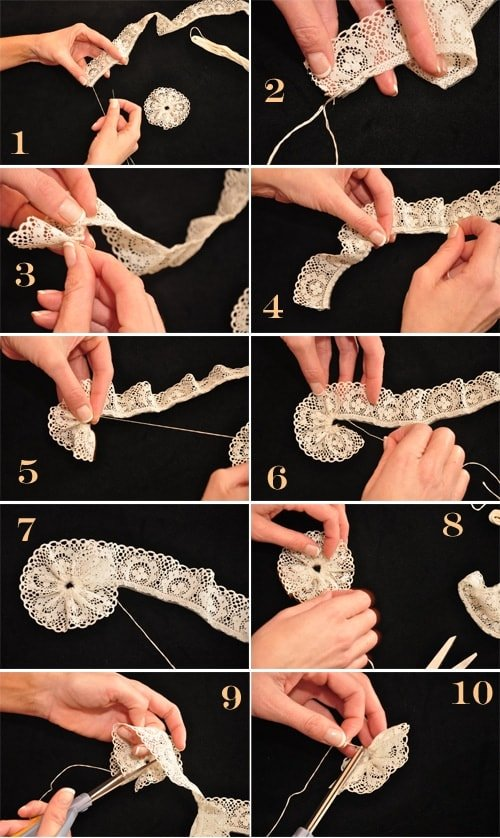 How to Make Lace Rosettes