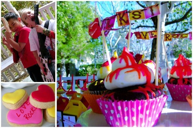 love rocks valentine's party cupcakes