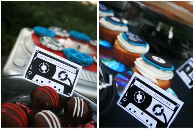 music birthday party theme treats