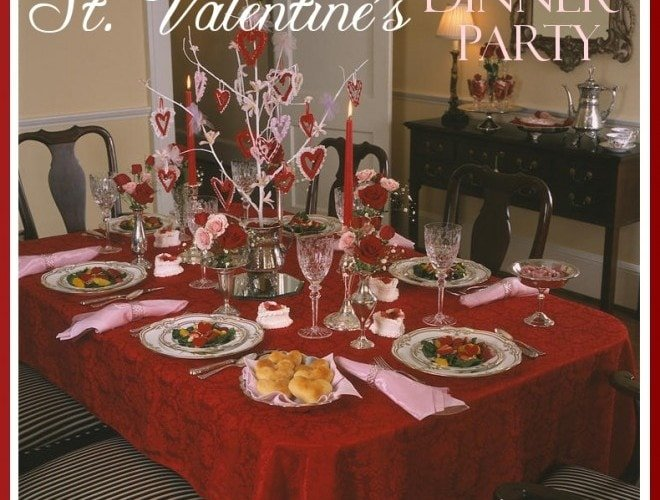St. Valentine's Day Dinner Party & DIY Sugar Heart Boxes