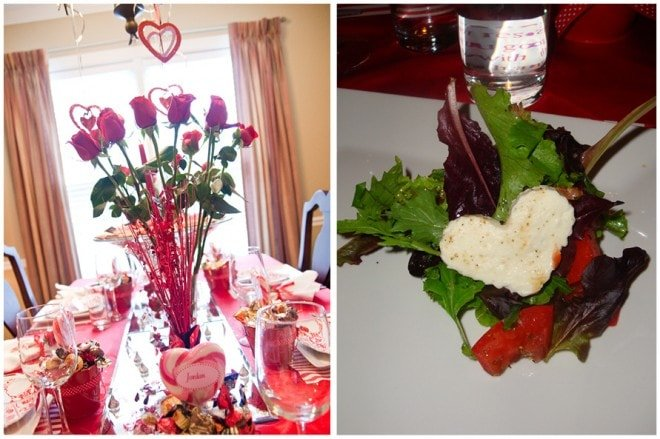 valentine's dinner party salad