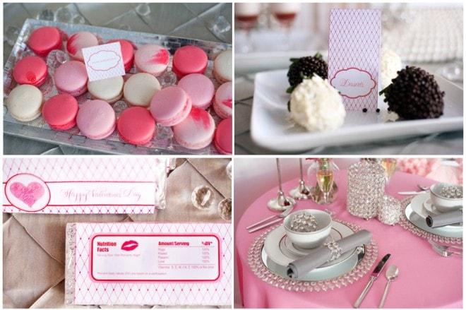 valentine's day printables wedding tablescape