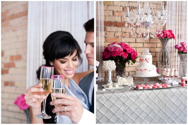 valentine's day wedding styled shoot