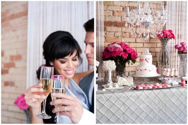 valentine's day wedding styled shoot