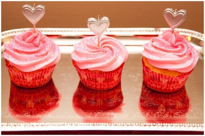 Valentines' Heart cupcakes