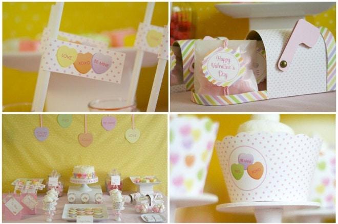 valentine's party cupcakes
