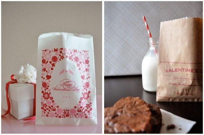 diy free printable valentine's treat bags