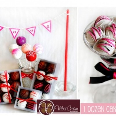 cake truffle valentine's giveaway