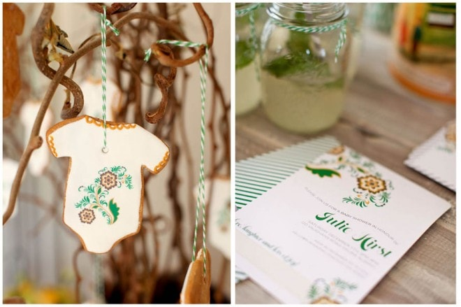 baby shower cookie and invitation