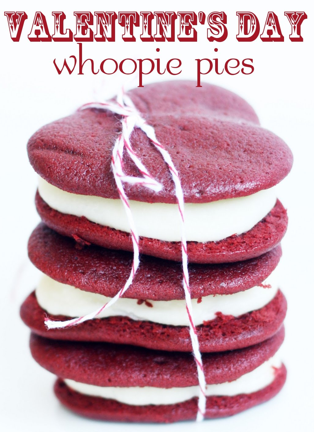 Heart Shaped Red Velvet Whoopie Pies | Pizzazzerie