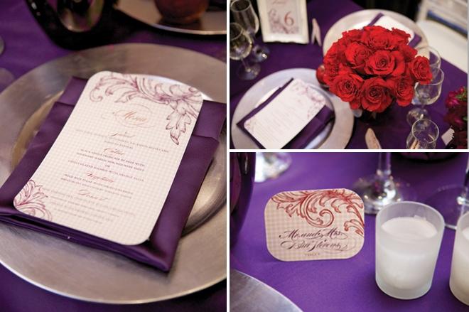 eggplant purple menus