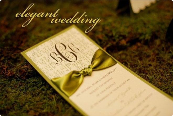 green wedding program ideas