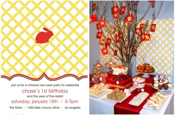chinese new year birthday party - year of the rabbit