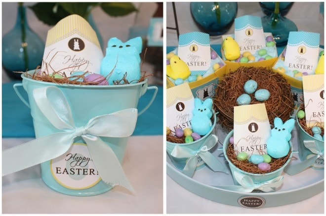 easter nests for party printables
