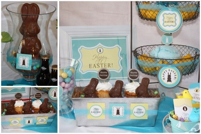 easter chocolate bunny printables