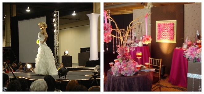 bride fashion show and florist