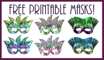 free printable mardi gras masks