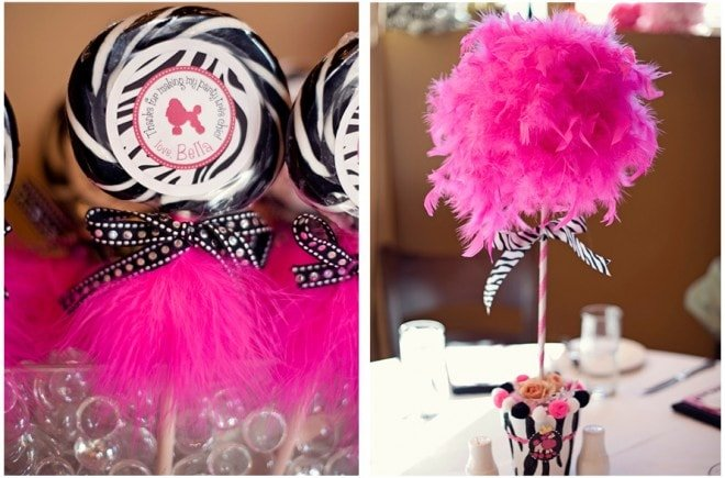 pink zebra lollipops