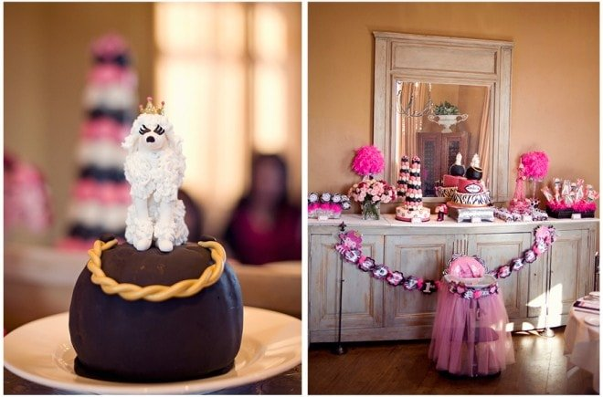 french poodle cake