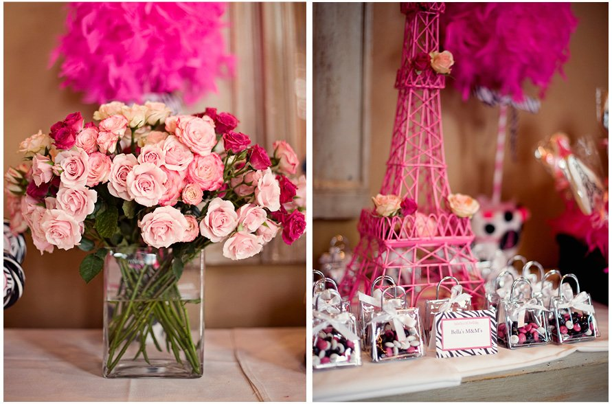 French poodle themed 1st birthday party pizzazzerie pink parisian florals and favors stopboris Gallery