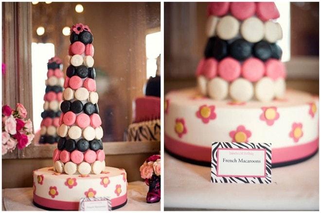pink macaron tower parisian