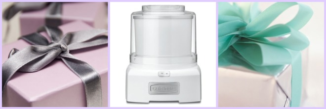 cuisinart ice cream maker and gifts