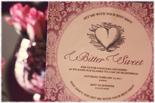 valentine's day dinner party invitation