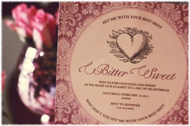 valentine's day dinner party invitation