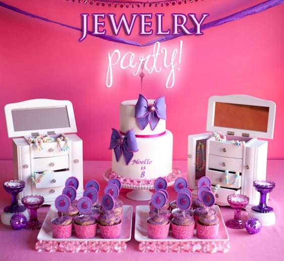 jewelry birthday party ideas