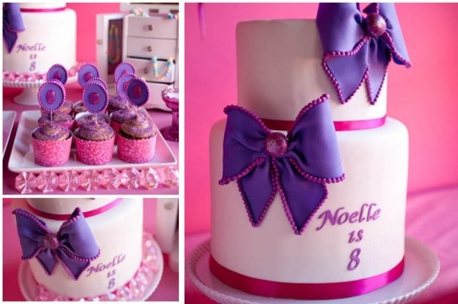 purple and pink birthday cake ideas