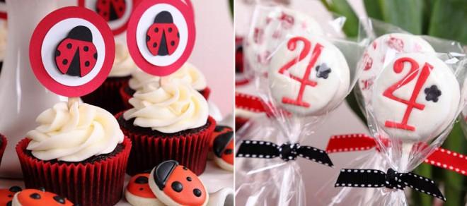 ladybug oreo pops and cupcakes