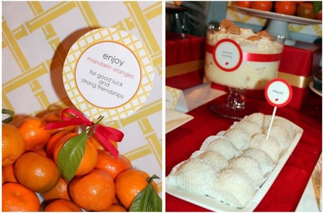 good luck mandarin oranges for chinese 1st birthday