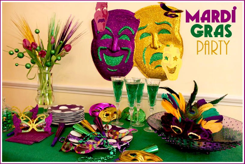 Host a mardi gras party recipes free printable masks pizzazzerie 2011 mardi gras party ideas forumfinder Image collections