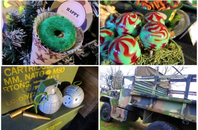 military camouflage birthday party ideas