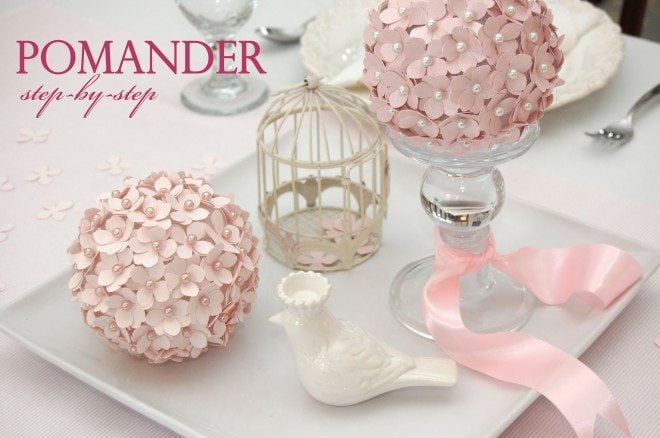 how to make a flower pomander ball