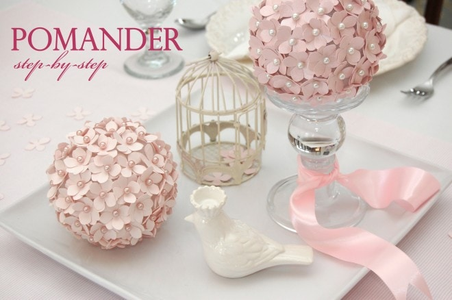how to make a flower pomander ball