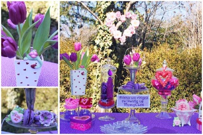 purple valentine's party