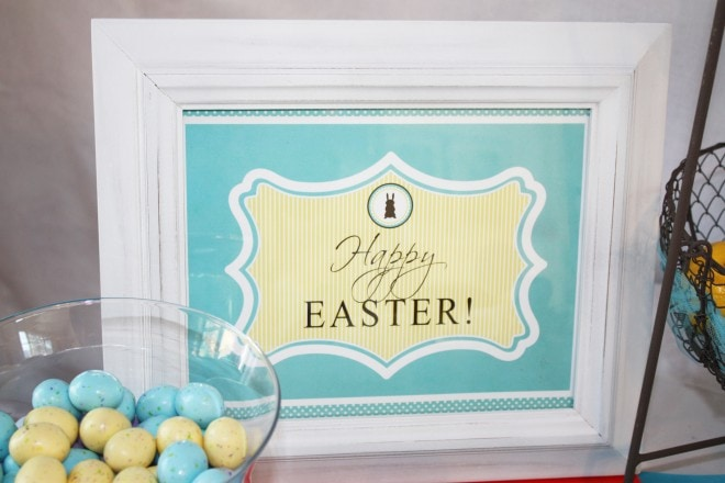 happy easter printable sign