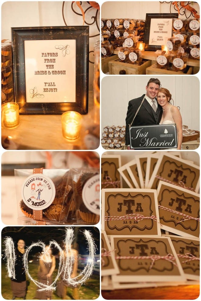 southern wedding favors smores