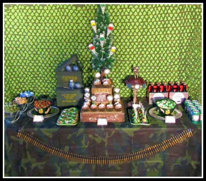 military green tablescape